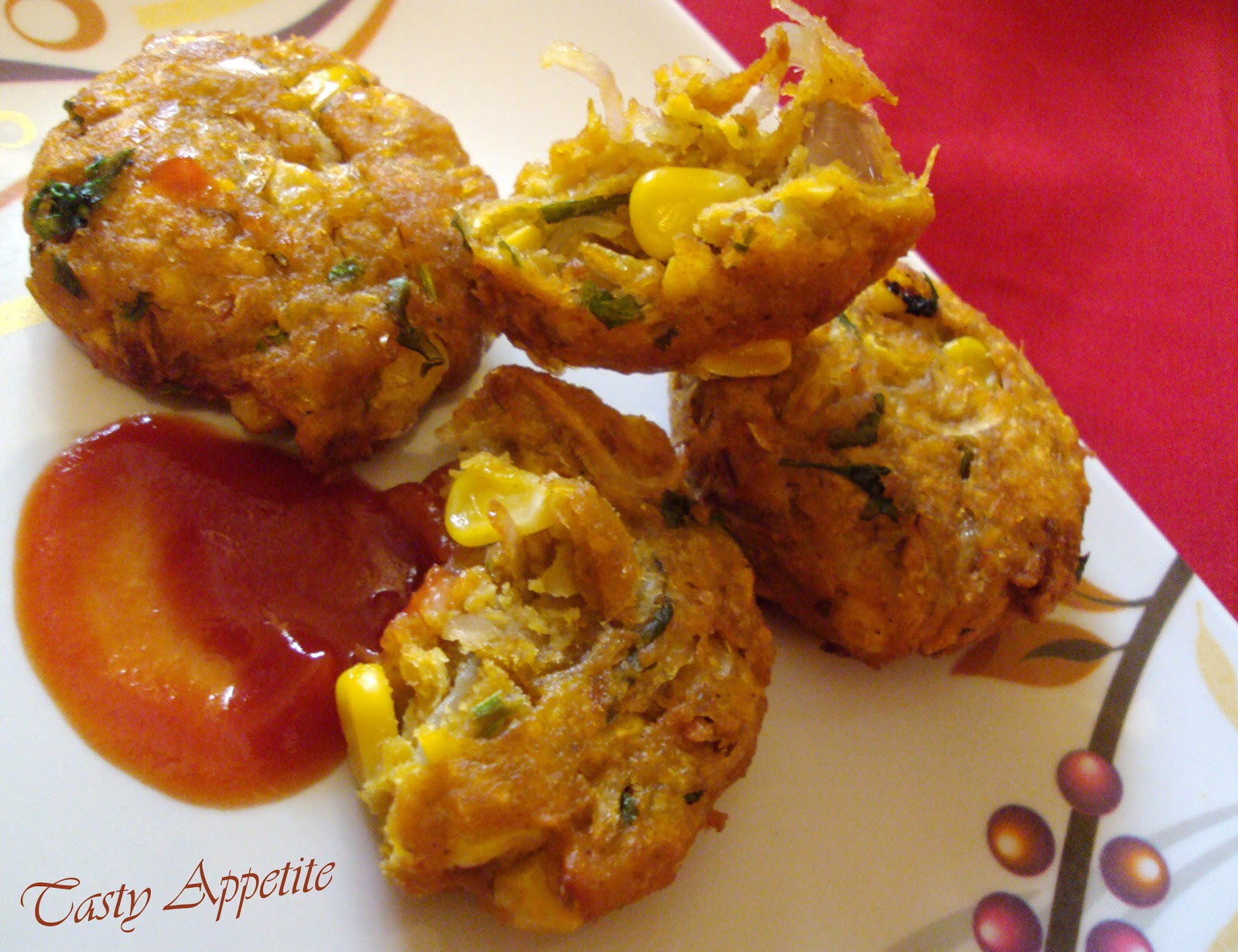 Crunchy Spicy Corn Fritters / Corn Appetizer