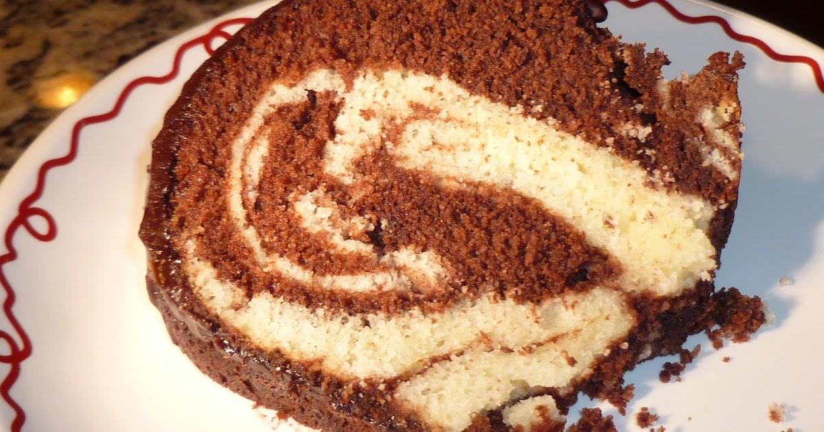 Marble Pound Cake Recipe With Chocolate Ganache