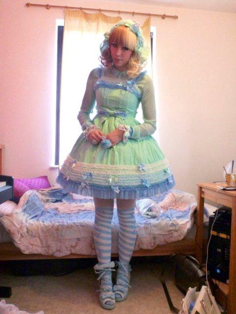 blue sweet lolita dresses