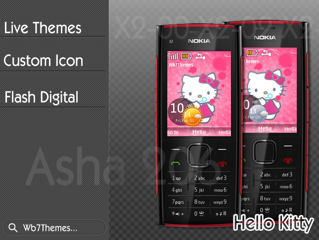Hello,kitty,theme,x2-00,x2-02,x2-05,asha-206,6303i