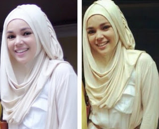 Contoh Desain Hijab Modern Ala Dewi Sandra