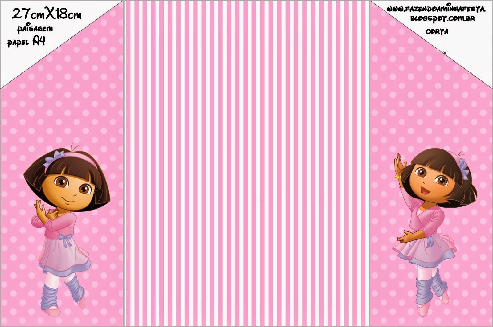 Dora Dancing Ballet Free Printable Invitations Oh My