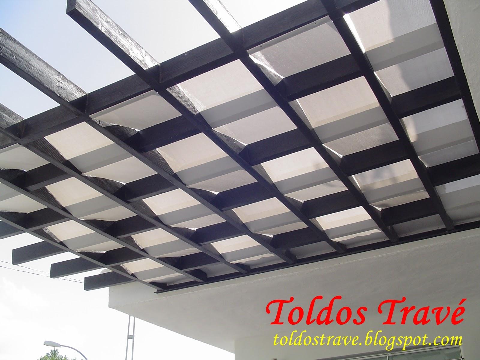 Toldos trav toldos p rgolas for Toldos para techos