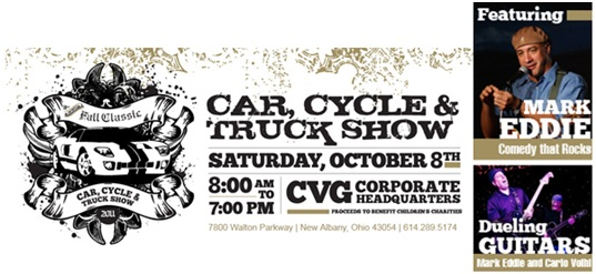 CVG, Car, Cycle and Truck Show, Mark Eddie, Carlo Volhl, Dueling Guitars