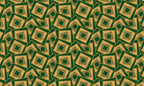 Square green patterns