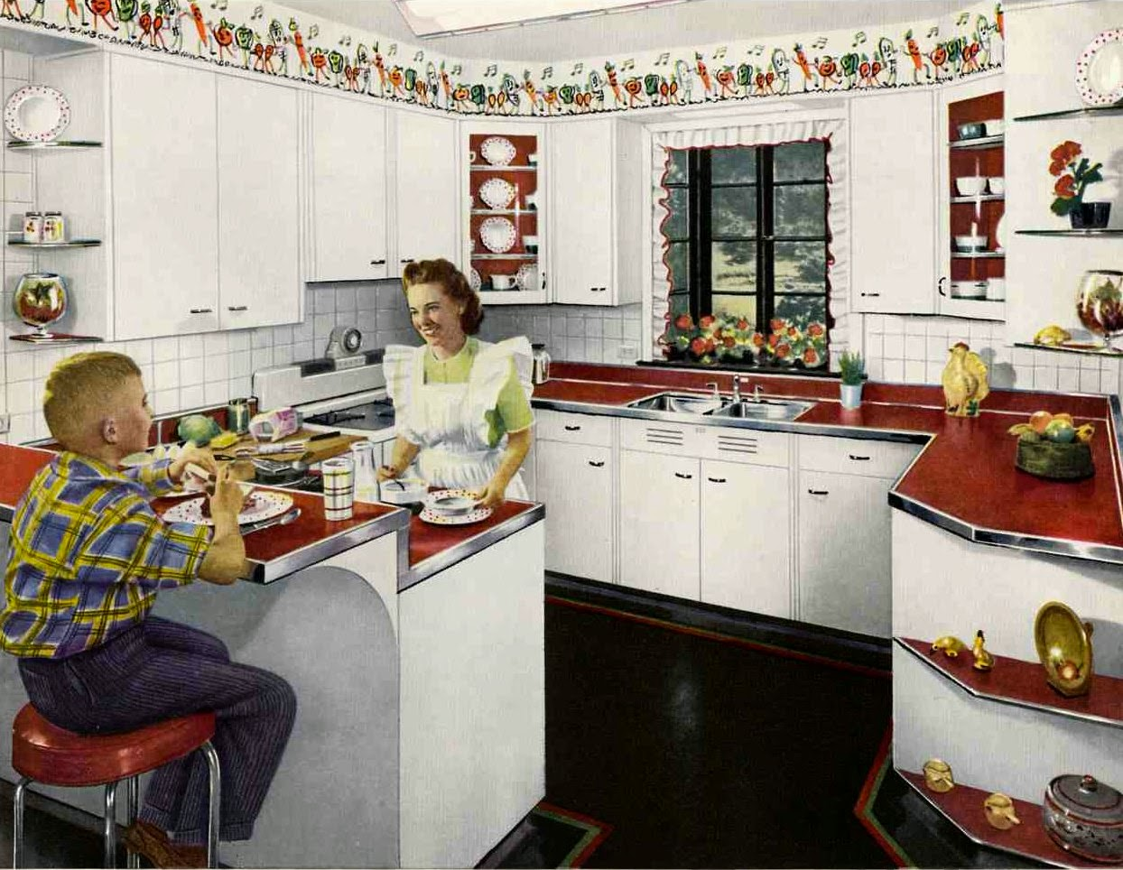 As cozinhas tinham uma estranha combinação bicolor como por exemplo  #6F2F1C 1244 964
