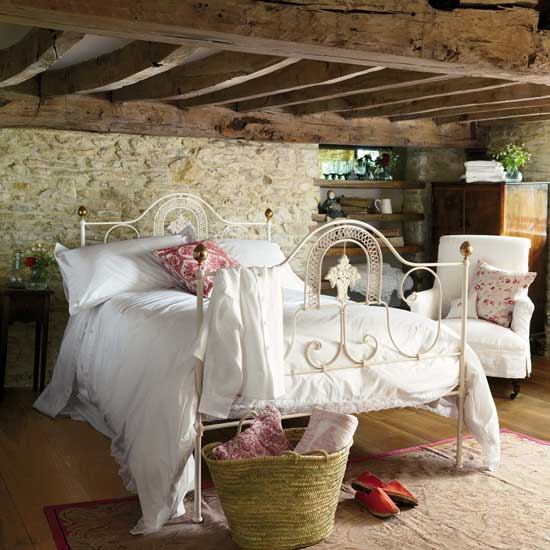 Shimmering gold fields french country bedroom for Rustic romantic bedroom