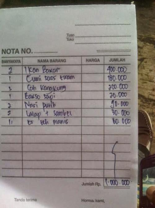 Kuliner Termahal di Lokasi Wisata Anyer, Banten