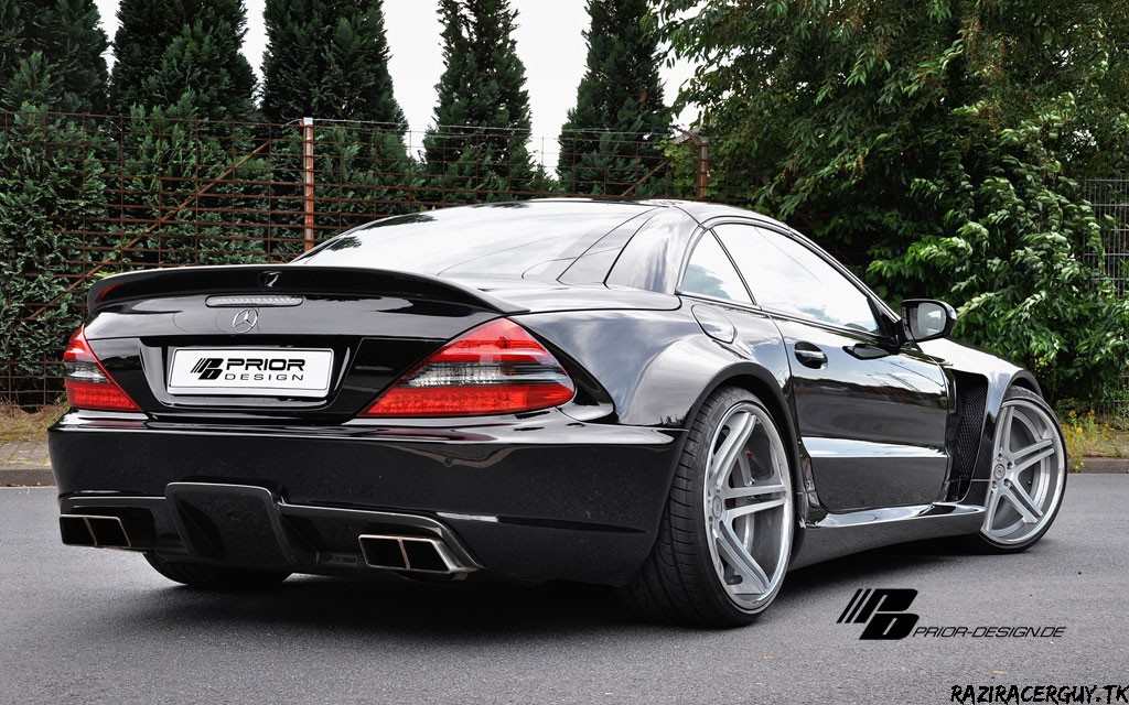 Mercedes benz sl black edition by prior design sport cars for Mercedes benz black edition