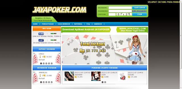 Daftar Poker online Jayapoker