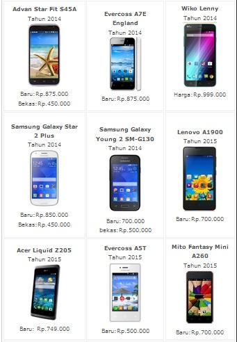 Daftar Harga Hp Android Murah Terbaru 2016 Informasi Harga Hp