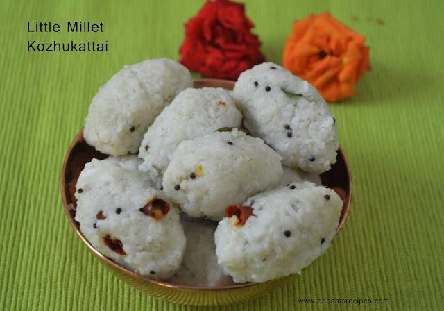 Samai Pidi Kozhukattai / Little Millet Kozhukattai