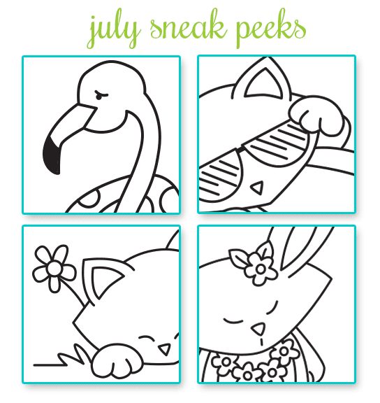 Newton's Nook Designs - July Stamp Release SNEAK PEEKS!