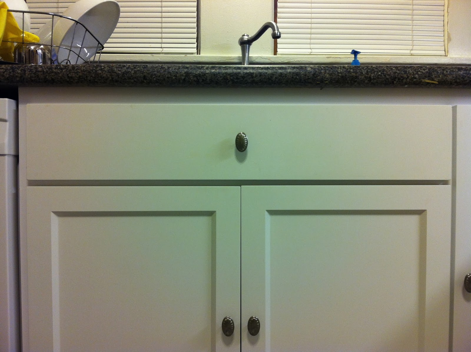 Kitchen cabinet false drawer clips - Dumb Reduction False Drawer Front Panel Installed