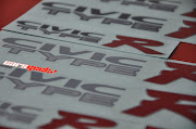 Honda Civic EK . CIVIC TYPE R . Side Door Sticker