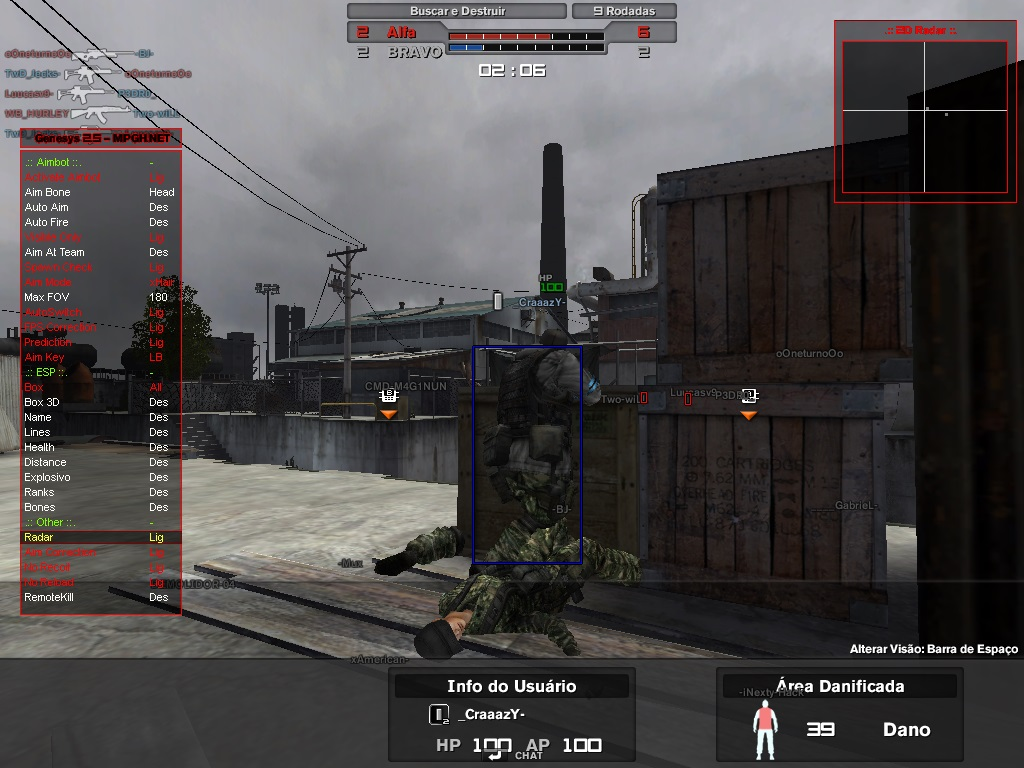 Combat Arms Hile Genesys 2.5 Remote Kill Esp Aimbot indir – Download
