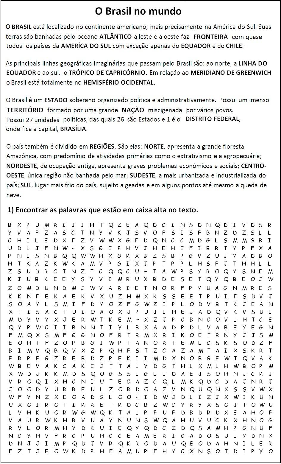 Ca  A Palavras  O Brasil No Mundo