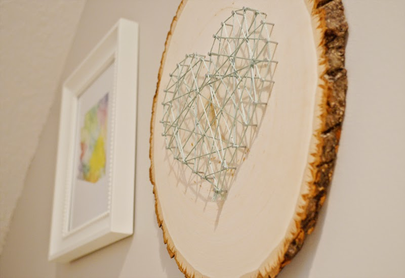 Sarah M Style Lets Get Crafty Diy Heart String Art On Wood Free