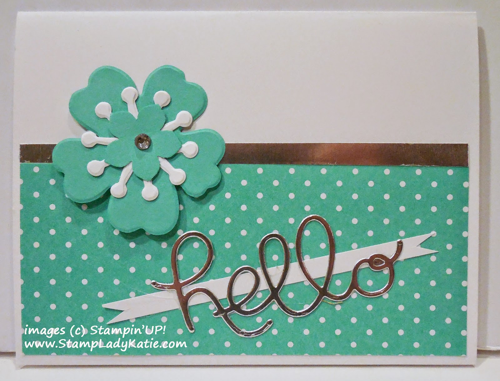 Card made with Stampin'UP!'s Bouquet BigzL Die and Hello You Thinlet Dies