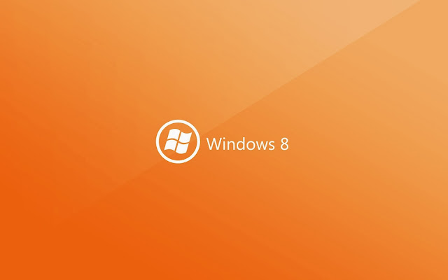 Orange Windows 8 hintergrund