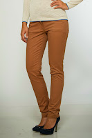 Pantaloni strech camel Be You