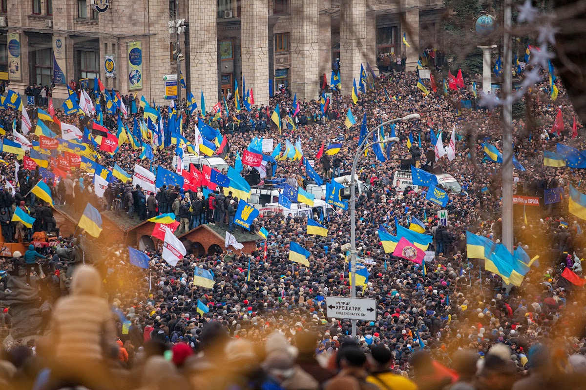 NATOs Pet Nazis Savage Ukrainian Presidential Candidate Euromaidan Kyiv 1 12 13 by Gnatoush 005