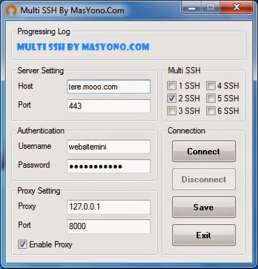 cara memakai multi login dan ssh connect