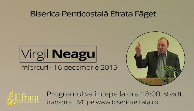Virgil Neagu la Biserica Efrata din Faget - 16 decembrie 2015