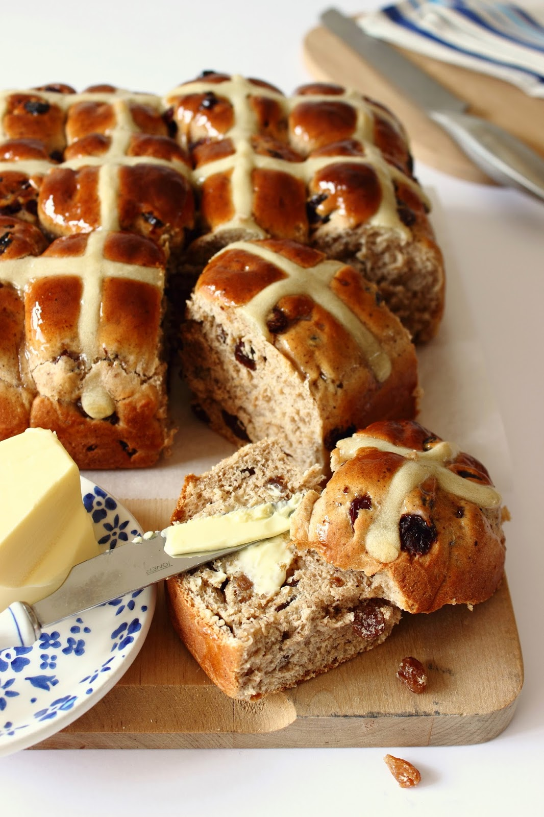 Hot Cross Buns (zoete broodjes)