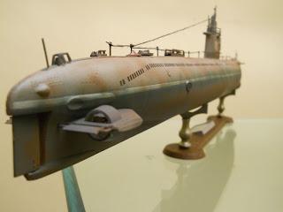 maqueta a escala 1/144 de un submarino ruso de la clase Romeo