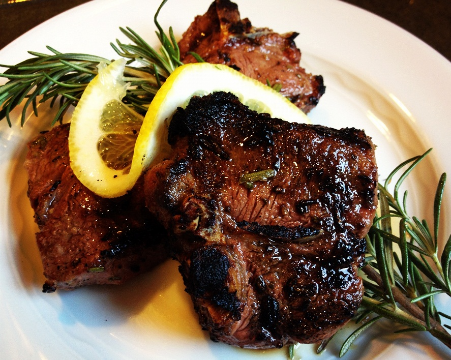 Grilled Lamb Chops Recipe With Garlic, Rosemary, And Thyme Recipe ...