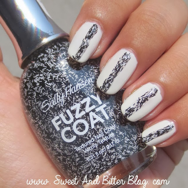 Sally Hansen Fuzzy Coat Tweedy 800 over White