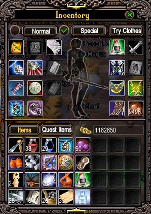 Quest items taking up inventory space