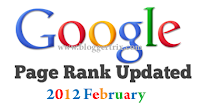 Google page Rank Update February 2012