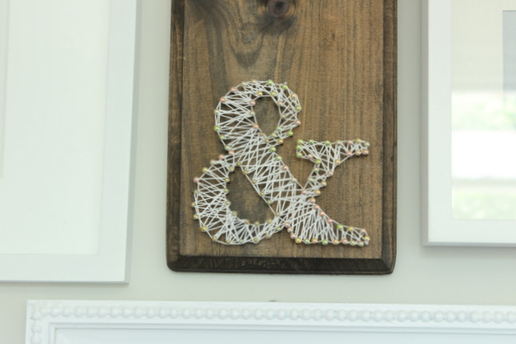 Home office gallery wall artwork - woven string ampersand