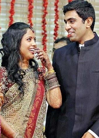 ipl mania cricketer ashwin wedding photos