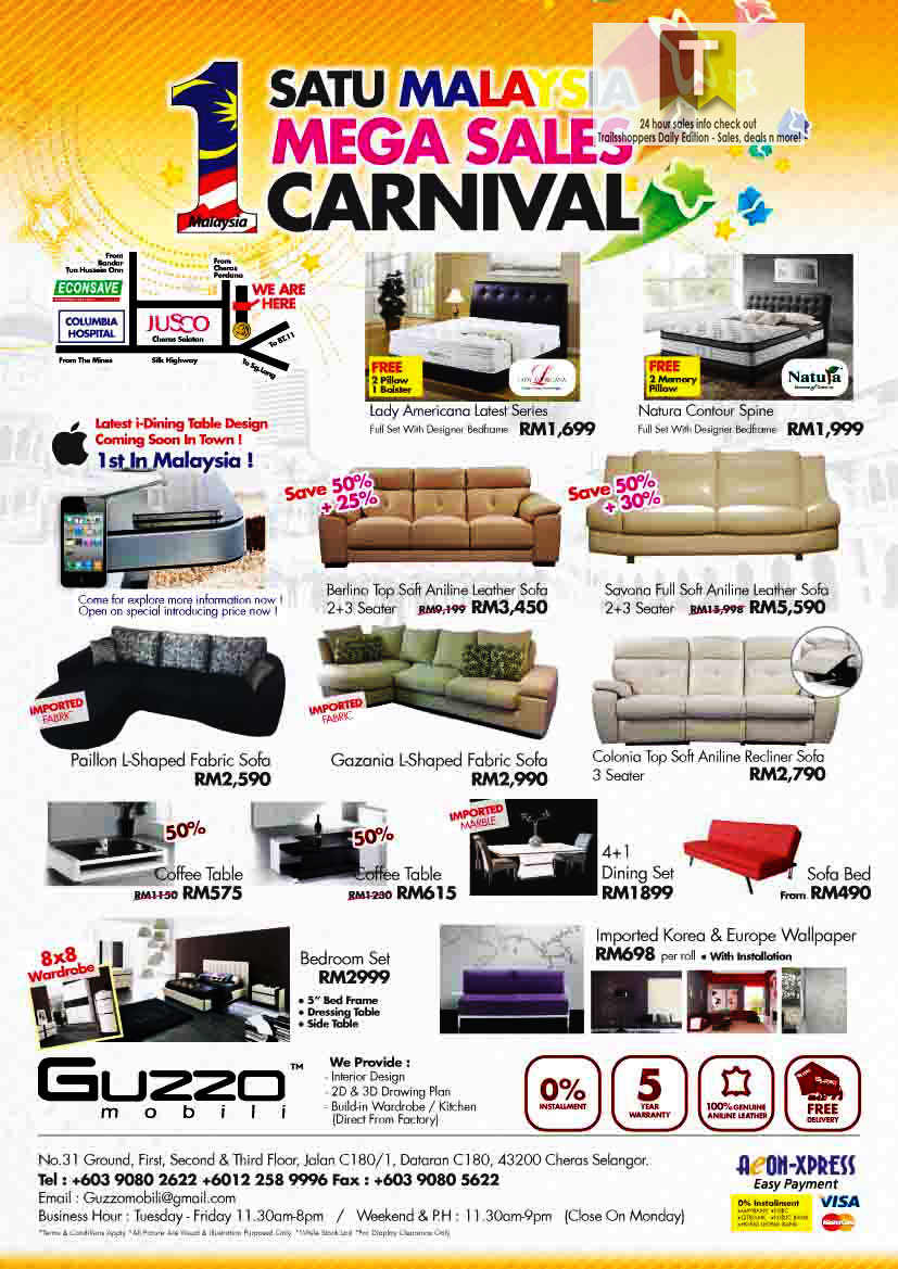 1Malaysia Furniture Mega Sales End 31 MAY 2012 | Trailsshoppers