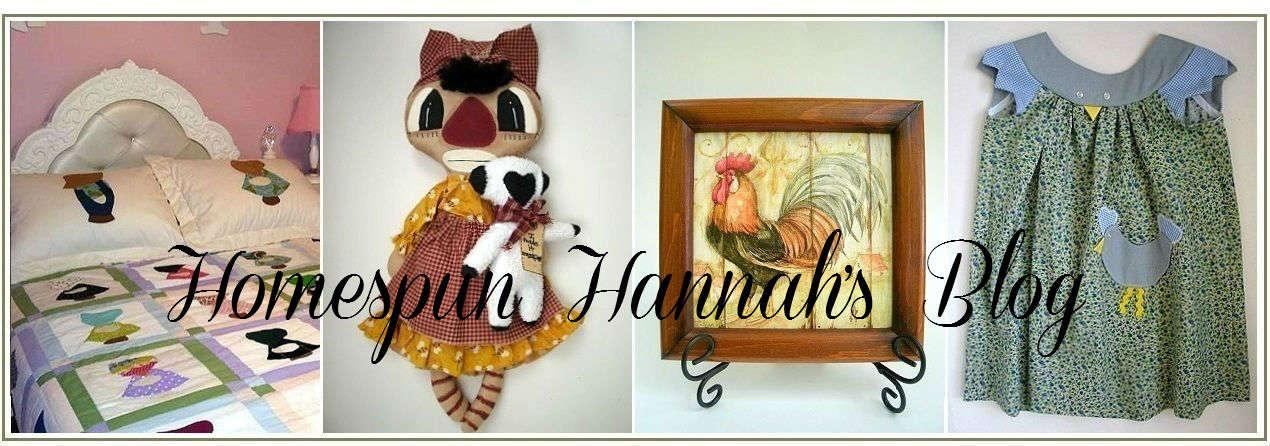 Homespun Hannah's Blog