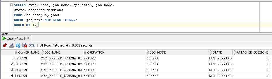 ALL ABOUT ORACLE: Kill, restart or resume datapump expdp/impdp jobs