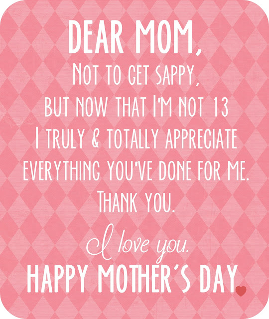 Happy Mothers Day quote printable