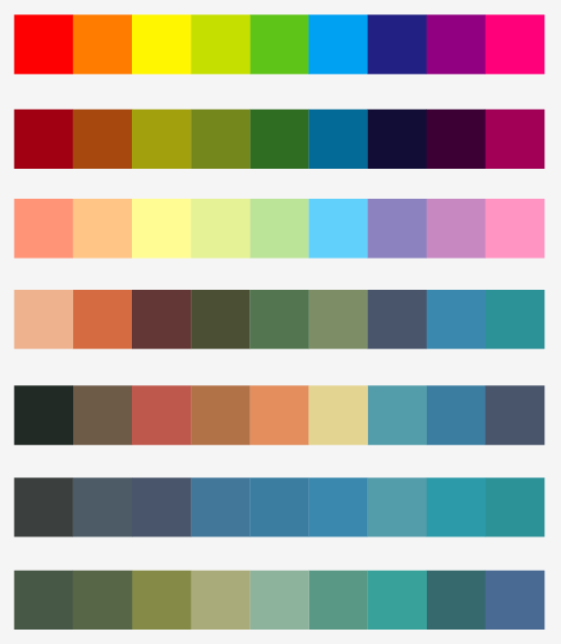 Design Practice: Colour Palette Suggestions