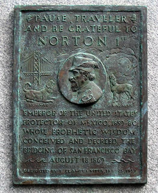 Emperor Norton plaque