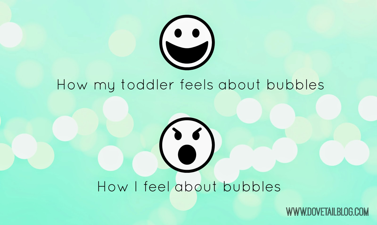 When I Was A Kid {Bubbles are The Worst}