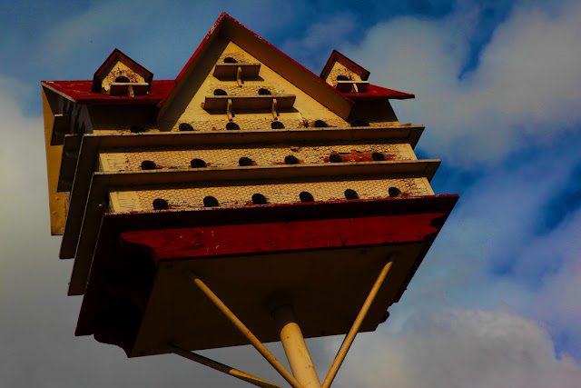 A really huge birdhouse at the Gilgal Sculpture Garden in Salt Lake City, Utah.