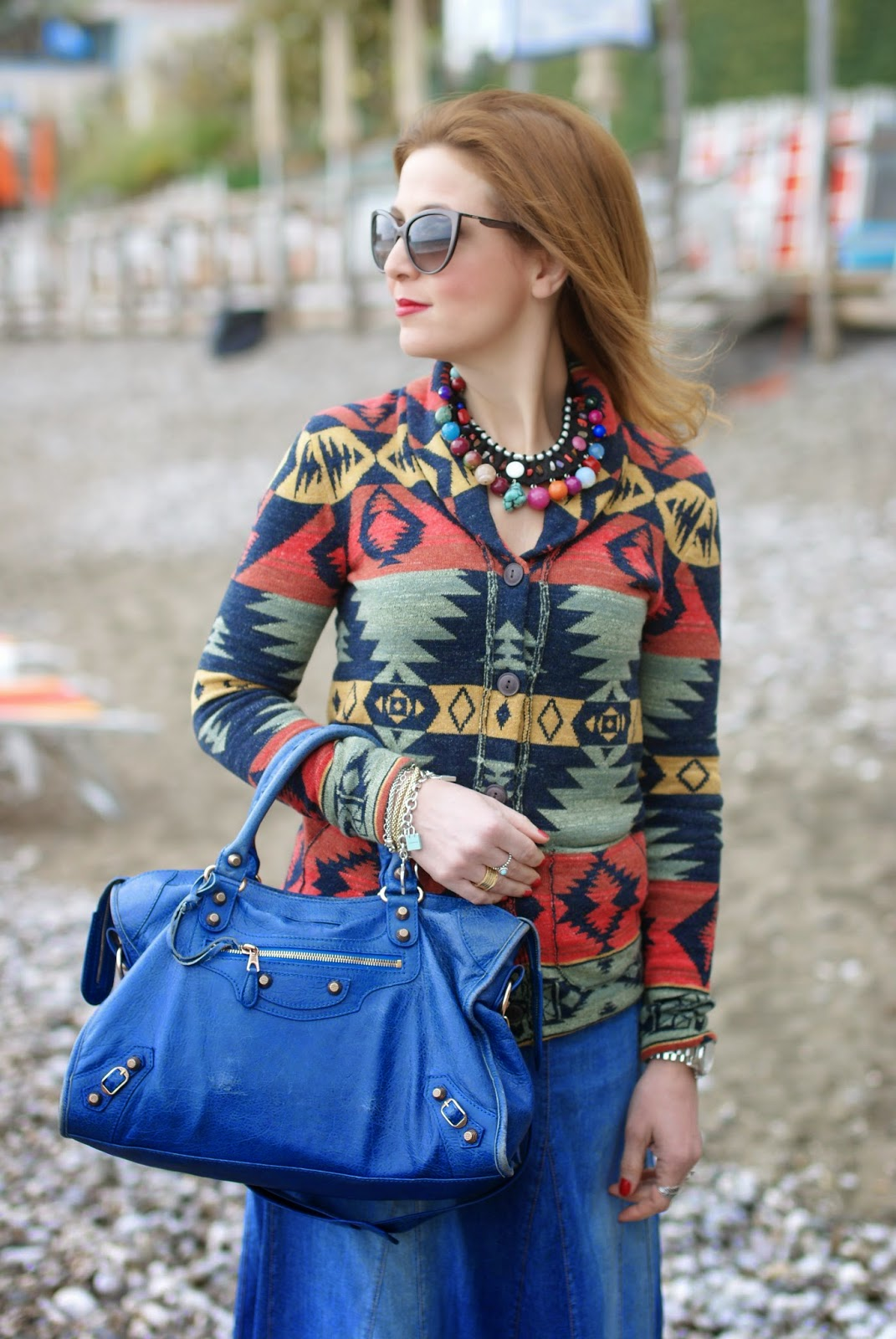 Denim & Supply Ralph Lauren, Denim & Supply shawl jacket, serape cardigan, Fashion and Cookies, fashion blogger