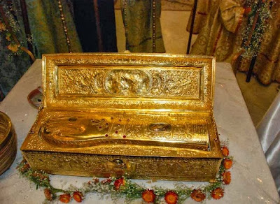Λείψανο της δεξιάς χείρας του Αγίου Γεωργίου στην Ιερά Μονή Ξενοφώντος Αγίου Όρους