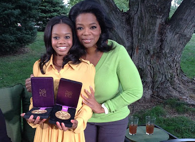 Oprah and Gabby Douglas