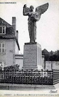 CPA monuments aux Morts de l'Allier, Cusset