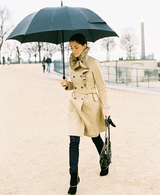Sete dias sete looks para dias de chuva das street style