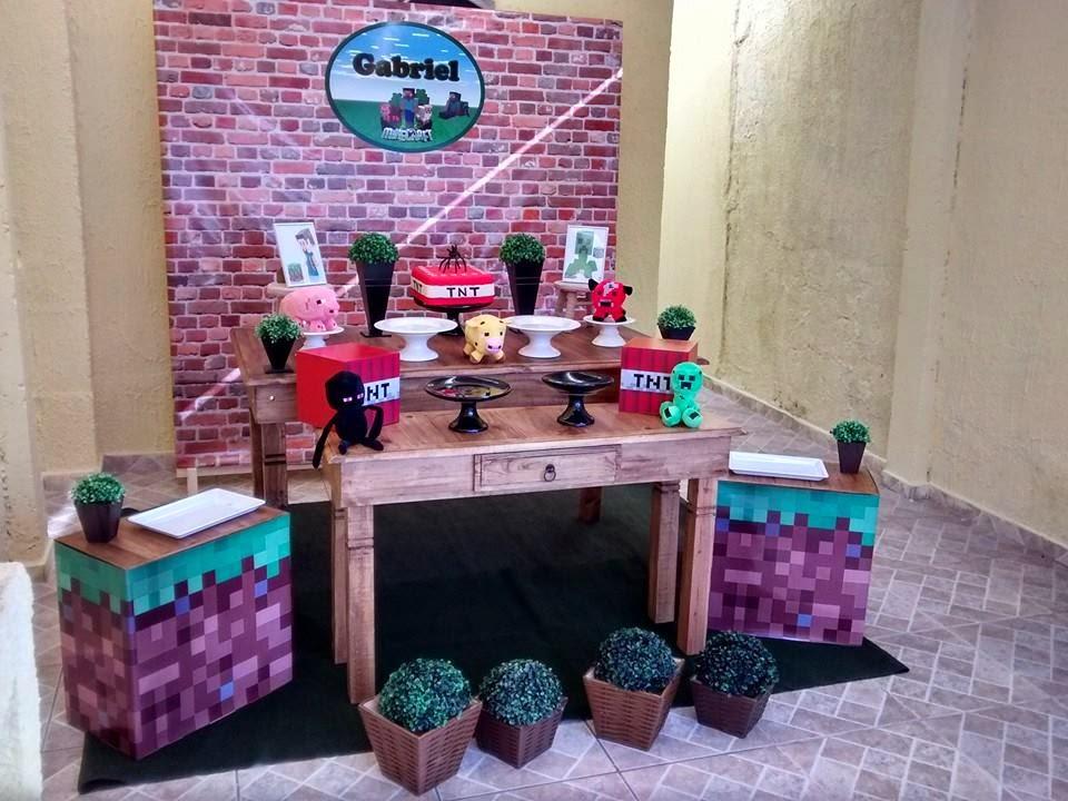 Decoração Clean ABC Decoração Minecraft, Decoração de Festa Infantil Minecra -> Decoracao De Banheiro No Minecraft